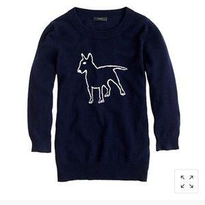 Hugo Guinness for J.Crew cashmere terrier sweater